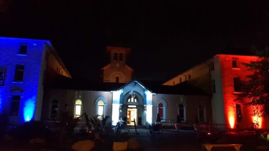 La façade illuminée